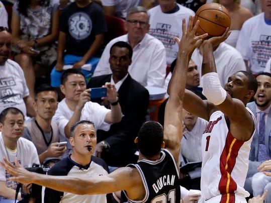 NBA Finals Spurs Heat Basketball