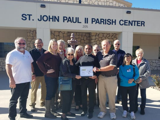 St. Edward Catholic Church, located at 209 N. Guadalupe St., was awarded the December 2017 Business of the Month award.