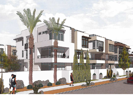 An architect's rendering of The Andreas, a 51-unit