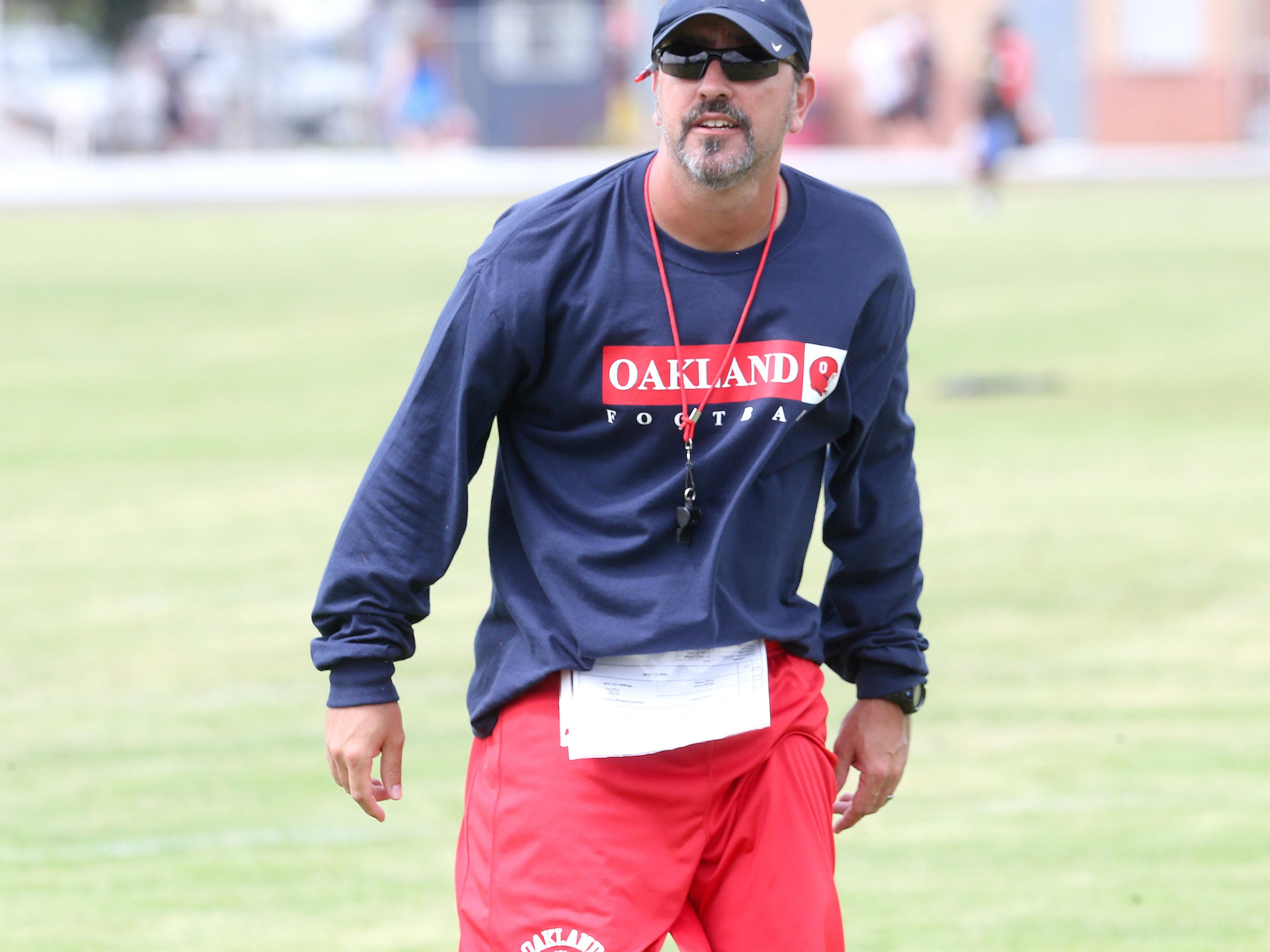 Oakand first-year football coach Kevin Creasy must find another game since Pulaski Academy in Arkansas will not play the Patriots. The schools disagree about the reason.