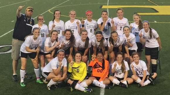 The Tuscola girls soccer team.