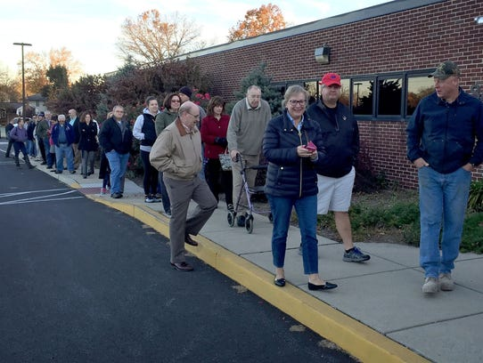 There were long lines early at many polling places