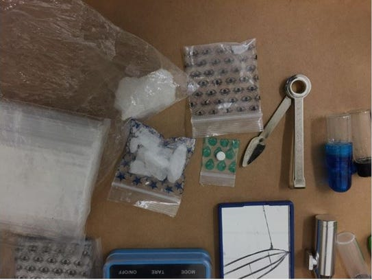 A snapshot of drugs and paraphernalia seized from the