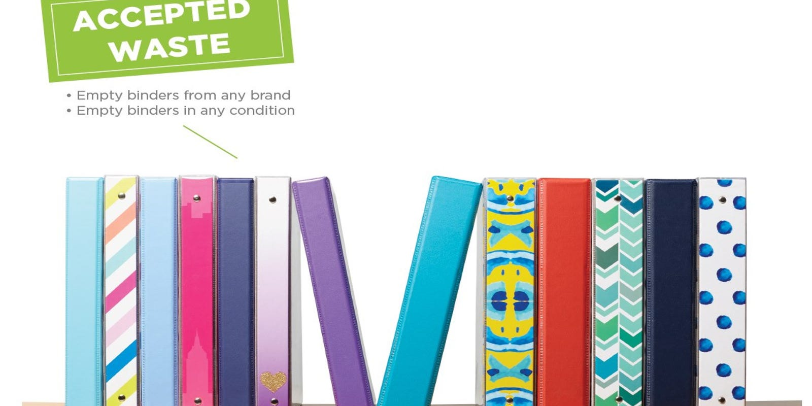 recycle old binders instead of tossing them