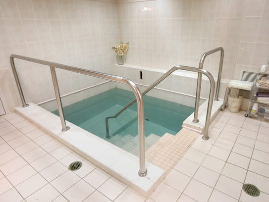 The mikvah, a pool that Orthodox Jewish women immerse