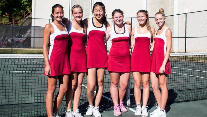 Asheville High's girls tennis team.