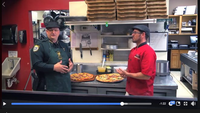 Brevard County Sheriff Wayne Ivey now hosts a cooking show featuring local businesses.