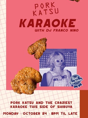MG Road presents pork katsu karaoke on Monday.