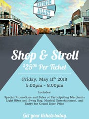 Shop and Stroll is Friday.