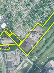A redevelopment plan would put 300 homes off a stretch