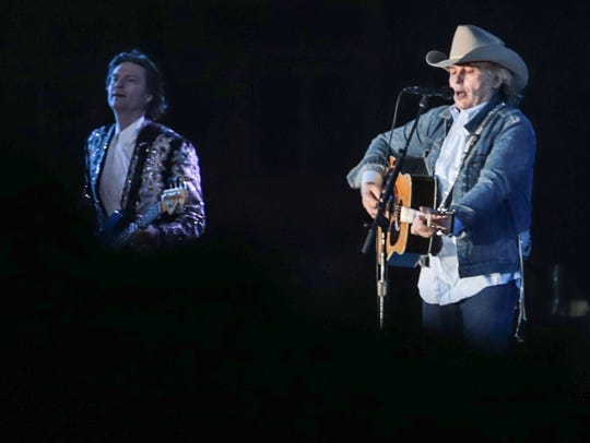 Apr 28, 2018; Indio, CA, USA; Dwight Yoakam performs
