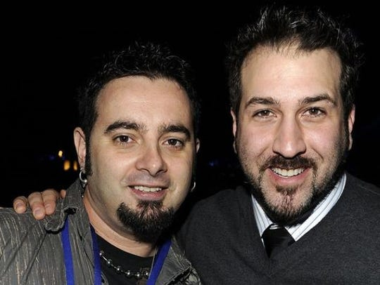 Joey Fatone and Chris Kirkpatrick of *NSYNC
