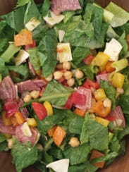 Italian chopped salad is a great option for healthy