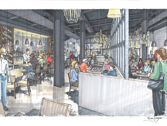 An interior view of the Deacon's New South restaurant.