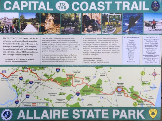 Map of the Capital to The Coast Trail
