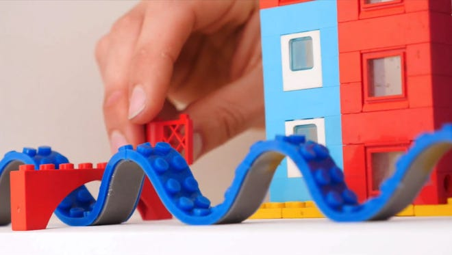 Nimuno Loops has created Lego tape that will fit many similar-styled building blocks.