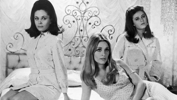 Barbara Parkins (from left), Sharon Tate and Patty Duke star in 'Valley of the Dolls.""