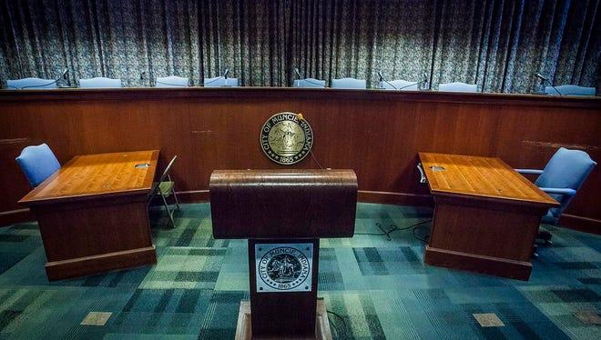 The City Hall Auditorium.