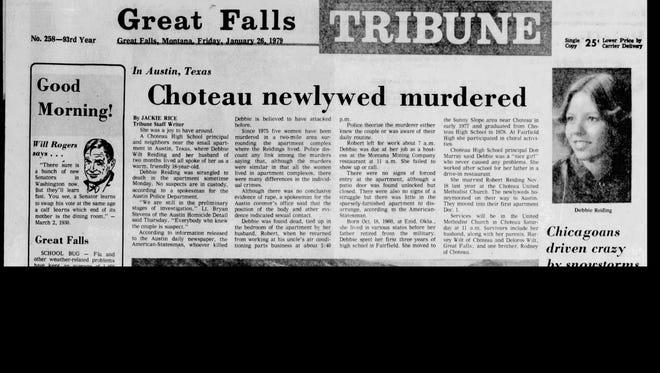 Debra Reiding of Choteau was murdered in Austin, Texas Jan. 22, 1979.