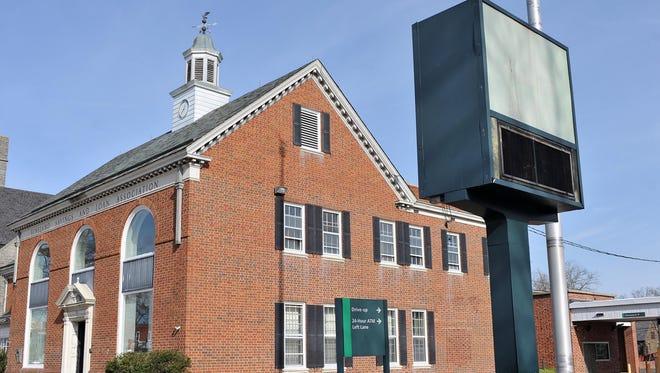The former Vineland Savings and Loan Association building at 818 E. Landis Avenue.