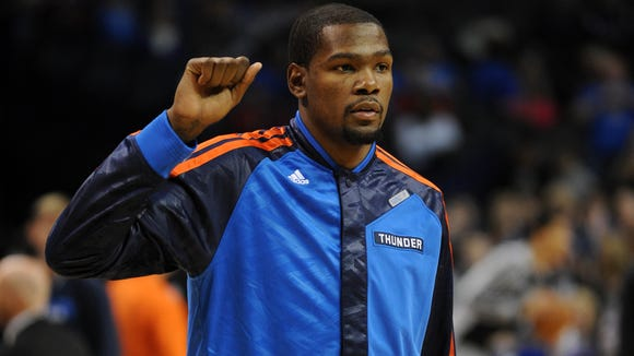 Oklahoma City Thunder small forward Kevin Durant (35)
