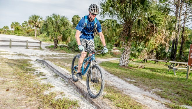 Pictured is one of many features riders can practice before encountering them on the trails.