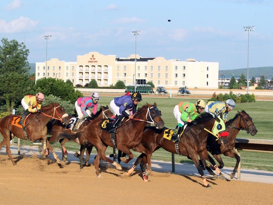 Thoroughbred racing takes place year-round at Bloomery