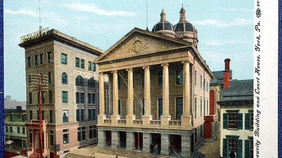 A 1910 postcard shows the York Security Building and Courthouse. DAILY RECORD/SUNDAY NEWS - SUBMITTED