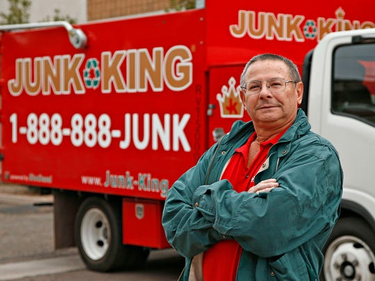 Junk King Phoenix specializes in hauling away unwanted items.