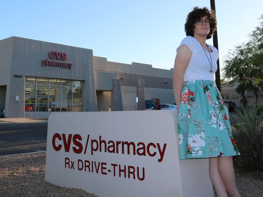 Hilde Hall, a transgender woman, says a CVS pharmacist