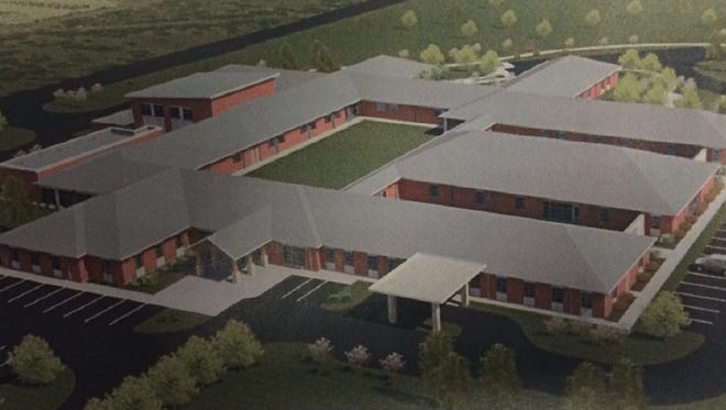 An artist rendering of the 72-bed psychiatric hospital proposed by Strategic Behavioral Health, LLC. The facility would be located in the I-43 Business Park on Green Bay's far east side.
