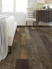 Luxury vinyl plank flooring is a quick and easy way