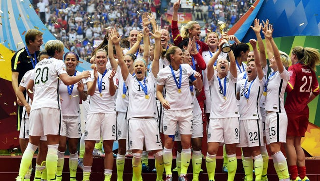 The World Cup champion U.S. women's soccer team will play the Australians Sept. 17 at Ford Field.