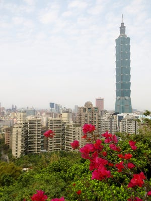 Taipei 101 is the eighth tallest skyscraper in the world.