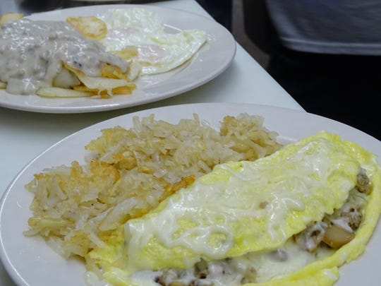 The western omelet and fresh cut home fries, smothered