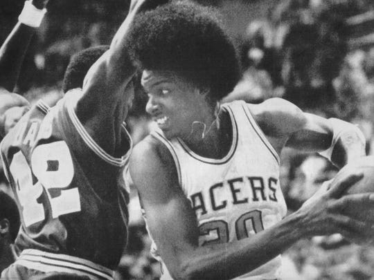 libscan  Darnell Hillman of the Indiana Pacers getting some action during a game.