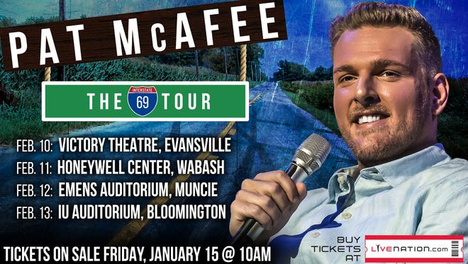 Colts punter Pat McAfee will show off his comedic side during a stand-up comedy performance at Emens on Feb. 12.