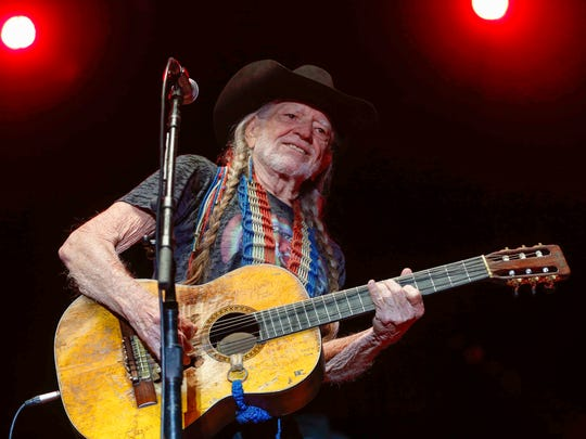 Music legend Willie Nelson performs during Hinterland