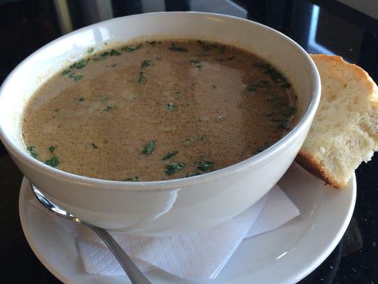 Roasted onion soup at Porta Via.