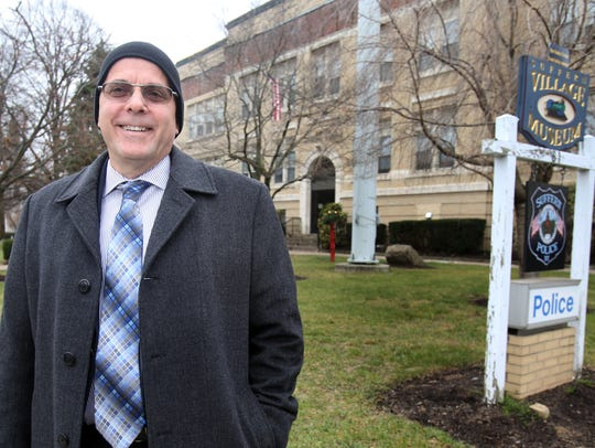 Suffern Mayor Ed Markunas was photographed in downtown