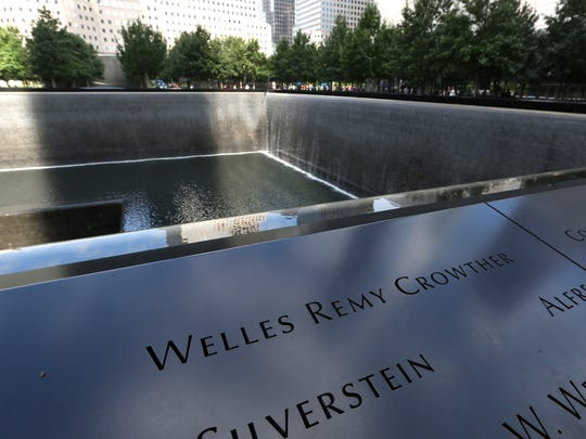 Welles Remy Crowther's name on the 9/11 Memorial in