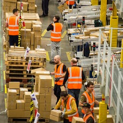 The Amazon Fulfillment Centre prepares for Black Friday on November 25, 2015 in Hemel Hempstead, England.