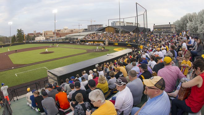The University of Iowa could probably squeeze 3,100 to 3,200 fans into Duane Banks Field if it hosts an NCAA regional. It recently installed temporary bleachers to increase capacity.