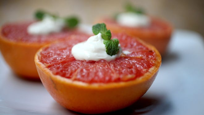 For a healthy breakfast, try Broiled Grapefruit with Vanilla Cream.