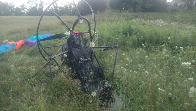 An ultralight aircraft went down Tuesday night in Fairview Township, injuring the pilot.