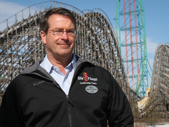 John Fitzgerald, seen in this 2015 file photo, recently left his job as president of Six Flags Great Adventure in Jackson.