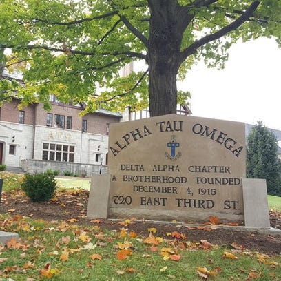 Here at the Alpha Tau Omega house on the Indiana University
