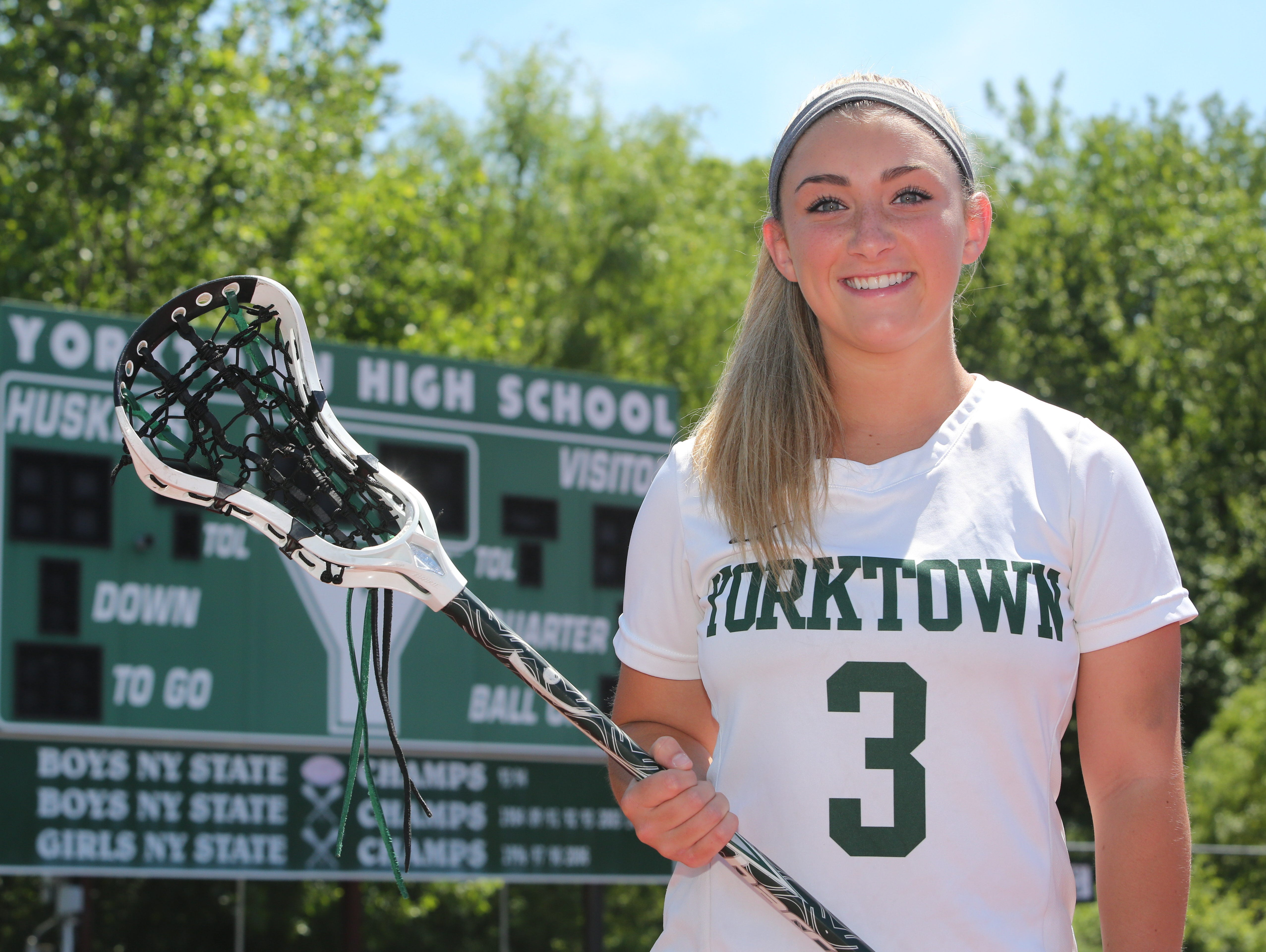 Casey Duff from Yorktown High School is The Journal News/lohud.com girls lacrosse player of the year. Here she is pictured at the school, June 17, 2016.