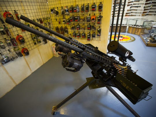 50-caliber semi-automatic guns at the D.A.M. Ammo Company,