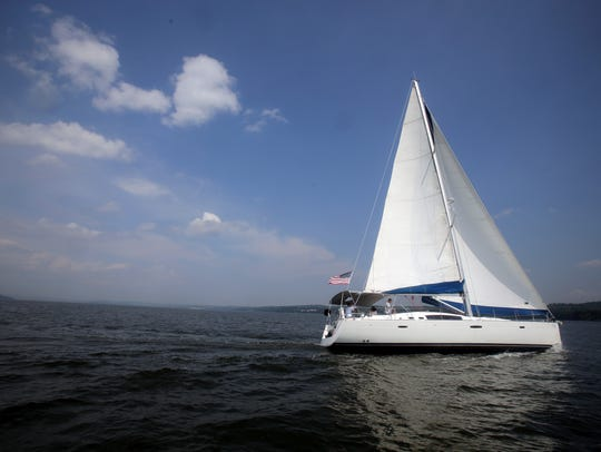 Nyack Boat Charter's, the Al Vento on the Hudson River